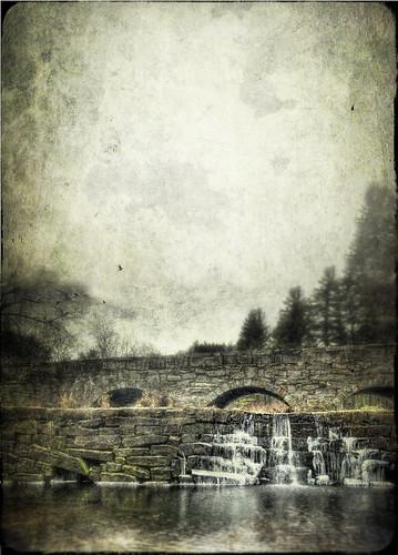 bridge cold texture ice water stone river landscape frozen waterfall dam massachusetts westtownsend