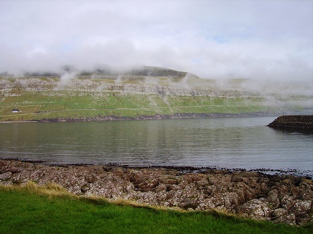 Fog in Sandur - A Village in The Faroe Islands