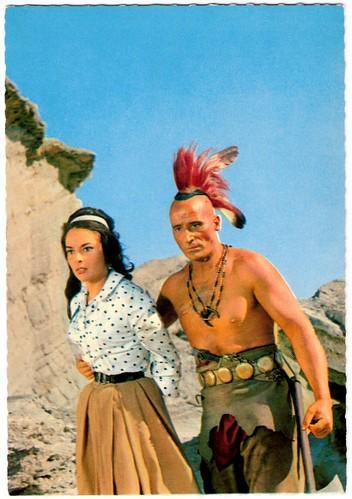 Karin Dor and Ricardo Rodriguez in Der Letzte Mohikaner (1965)