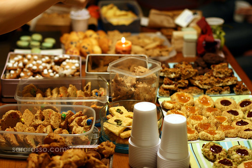 Cookies on the Table for Holiday Cookie Swap | by MsAdventuresinItaly