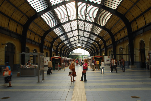 Pireas train station in Athens Port