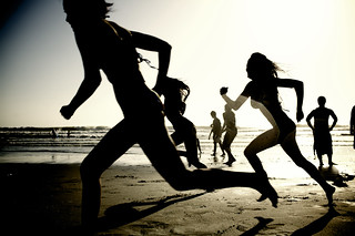 Girls running on the beach (#62902) | by mark sebastian