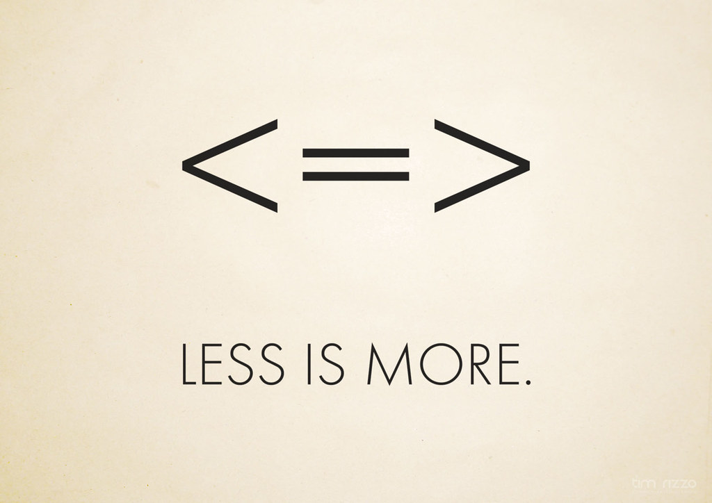 Less Is More Wallpaper Poster Inspired By The Design I