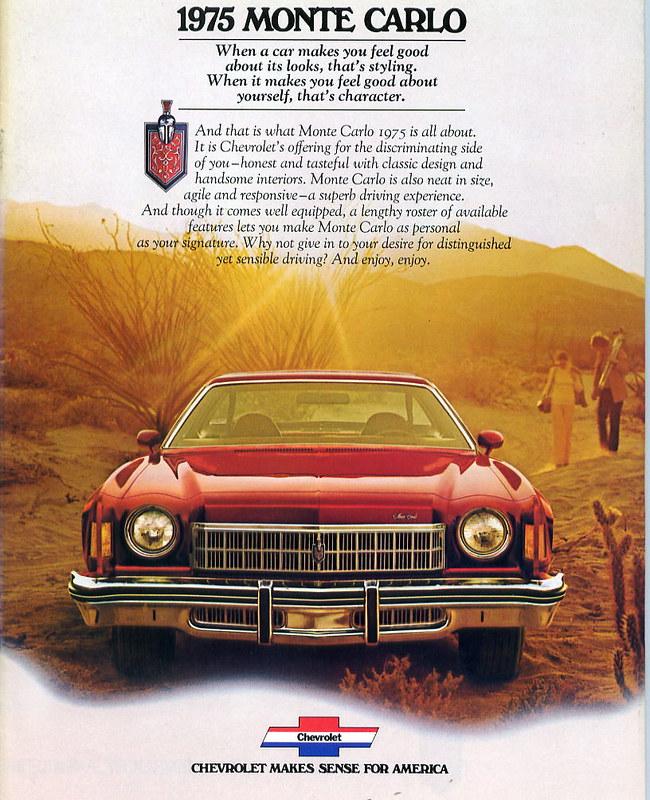 1975 Chevrolet Monte Carlo Auto Brochure