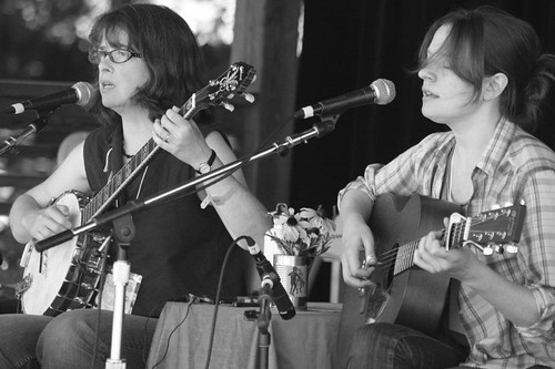 The Baird Sisters play the Espers-curated stage at Philly Folk Fest
