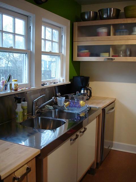 IKEA Varde Kitchen: apple green wall meets beeswax wall ac ...
