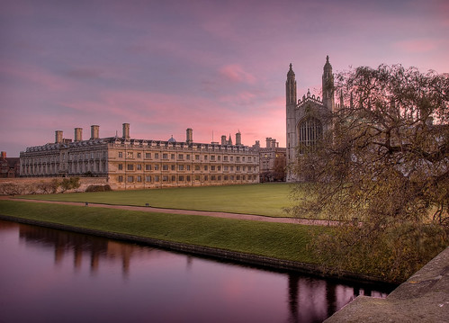 uk pink cambridge england sun color colour reflection college beautiful architecture sunrise river dawn nikon colorful cam earlymorning gimp chapel nikond50 reflected kings creativecommons kingscollege backs colourful nikkor dslr hdr cambridgeshire rosy cambs photomatix 18200mmf3556gvr tonemap subtlehdr freepicture top20pink