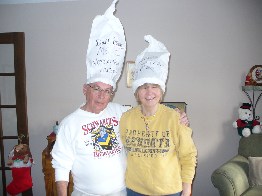 Mom and Dad | Hats they got at Dicks Last Resort in San