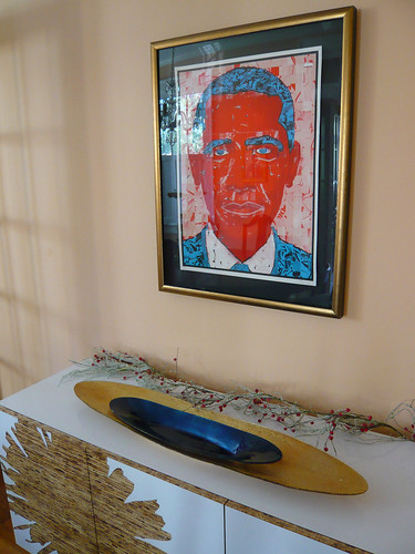 Barack Obama, by the Half and Half, over my sideboard. | by The Daily Digress