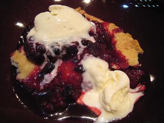 Delicious hot fresh blackberry pie with vanilla ice cream | by gserafini