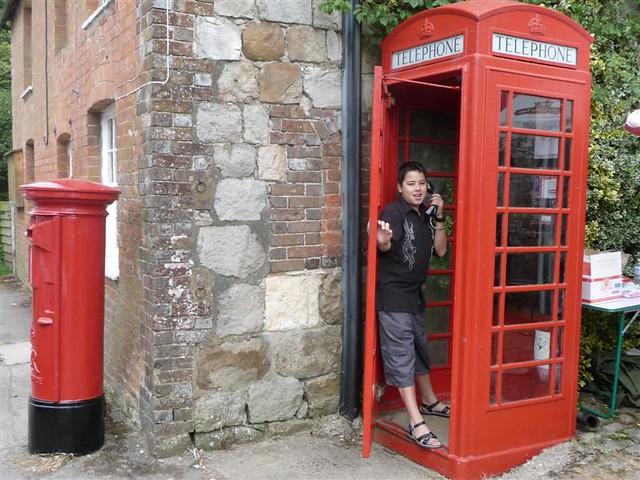 English Red Phone Box & Mailbox