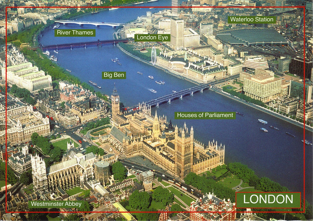 Aerial View of London, England Postcard