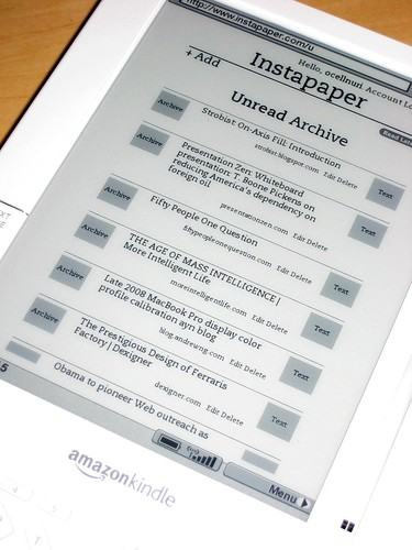 Instapaper on the Kindle | by Ocell