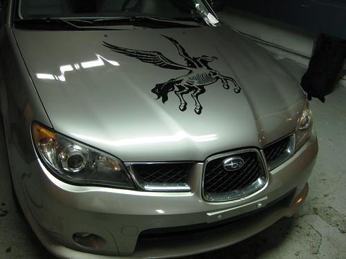 My car's decal.