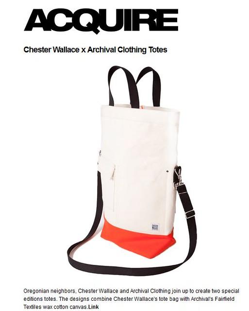 Acquire AC x Chester Wallace tote