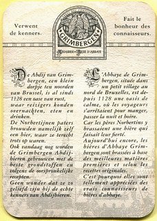 Belgium - Grimbergen Beer (Reverse)