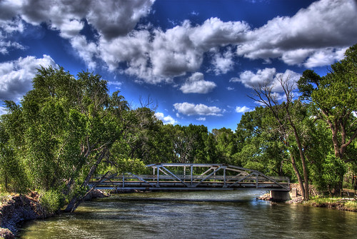 blue trees sky green water clouds landscape canal colorado steel pony span hdr delnorte bridging truss nationalregisterofhistoricplaces photomatix nrhp riograndecounty bridgepixing bridgepix 200806 wheelerbridge 85000235