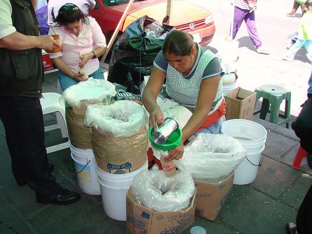 La vendedora de pulque