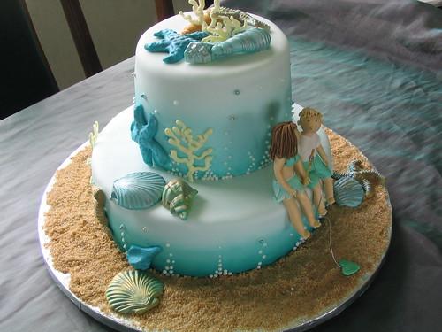 Sea theme Wedding Cake | by janes cakes