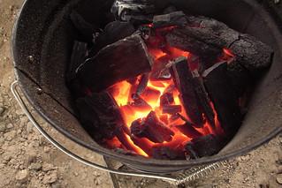 charcoal fire | by yoppy