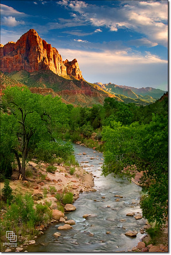 nature water river landscape outdoors landscapes utah nikon scenic zion zionnationalpark bec virginriver coloradoplateau canyoncountry thewatchman d80 specland nikond80 karmanominated damniwishidtakenthat thewatchmanzion