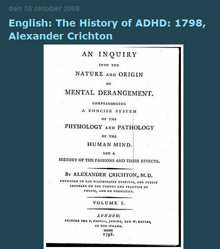 the history of adhd