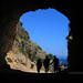 Through the tunnel at Lo Zingaro Nature Reserve, Sicily