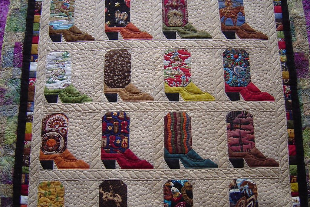 Cowboy Boots Pieced By Cheri Cheney Quilted By Jessica S Q