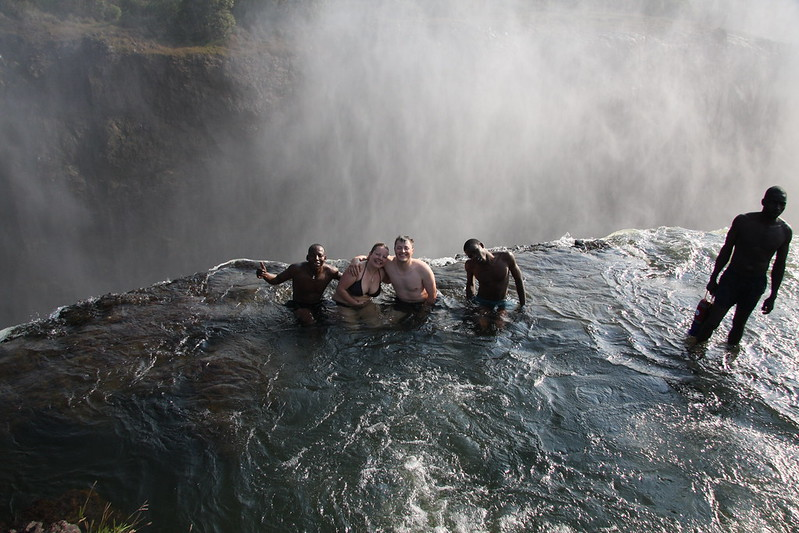 Devils Pool - the top of Vic Falls