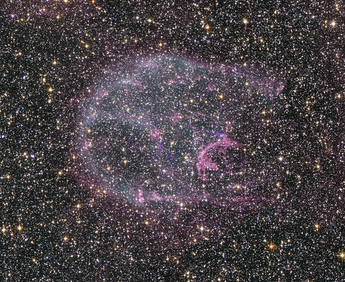 A supernova remnant in the Large Magellanic Cloud, about 160,000 light years from Earth. | by Smithsonian Institution