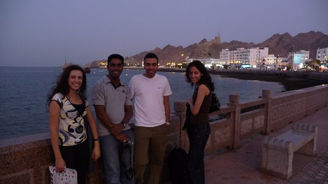 Random tourists on Mutrah seafront