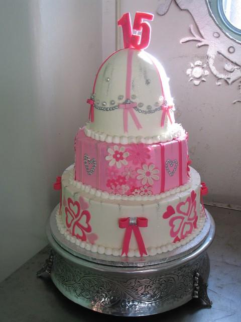 Peachy House Leisure 15Th Birthday Cake Charlys Bakery Flickr Birthday Cards Printable Riciscafe Filternl
