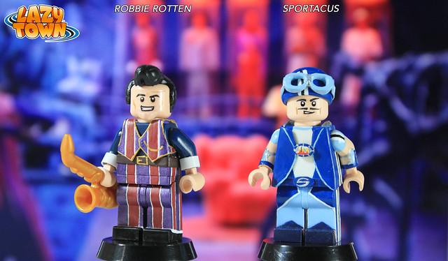 Custom LEGO LazyTown: Robbie Rotten & Sportacus