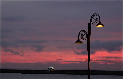 lymeregis dorset jurassiccoast seaside thecobb sunset sky