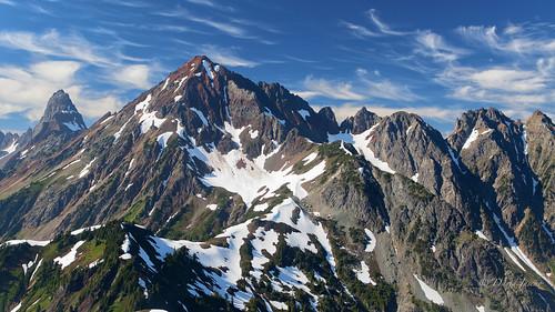 americanborderpeak thepleiades mountains northcascades pacificnorthwest mtbakerwilderness mtlarrabee usa