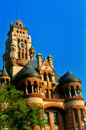 clock architecture 2000 texas victorian clocktower courthouse romanesque turrets victorianarchitecture waxahachie