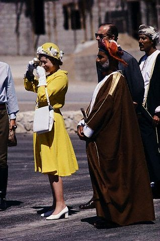 Qeeen Elizabeth in Oman 1979