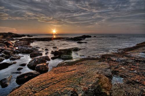 travel sunset sky sun india color beach nature water clouds photoshop movement nikon rocks raw goa 2008 hdr vagator d300 photomatix littlevagator theindiatree ozrant