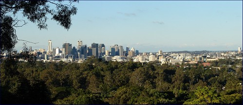 Brisbane from Mt. Coot-tha Botanic garden lookout
