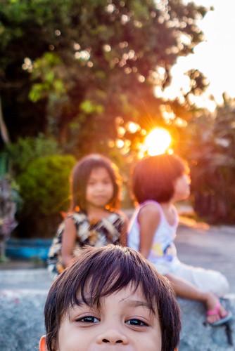 sunset people sun children lumix kid philippines panasonic lx7