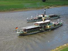 Dresden: Albrechtsberg steamers