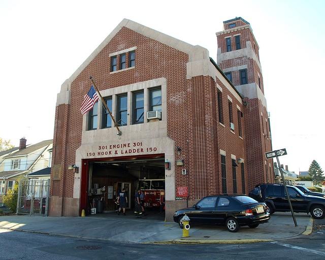 E301 FDNY Firehouse Engine 301 & Ladder 150, Hollis, Queens, New York City