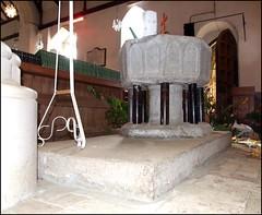 font on an altar mensa