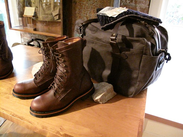 Filson boots and luggage