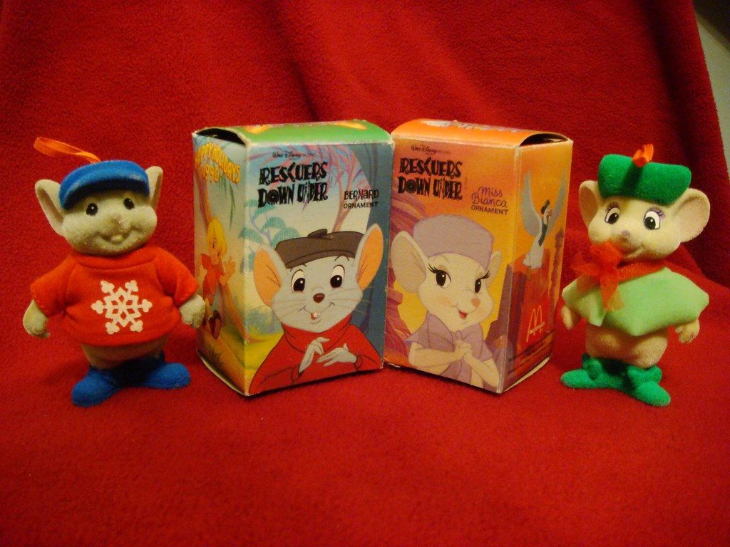Mcdonalds Christmas Ornament.The Rescuers Down Under Christmas Ornaments From Mcdonalds Flickr