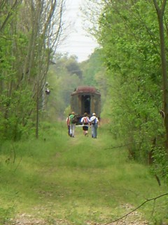 Hikers and a Railroad Car | by RandomConnections