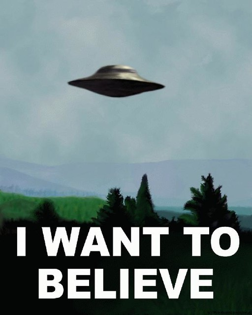 I want to believe | Poster de los X-Files, que Fox Mulder te… | Flickr