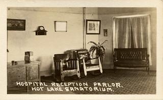Hospital Reception Parlor, Hot Lake Sanatorium, 1922