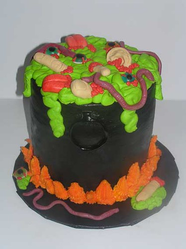 Superb Pot Of Gross Cake Halloween Party Cake Iced In Buttercrea Flickr Personalised Birthday Cards Arneslily Jamesorg