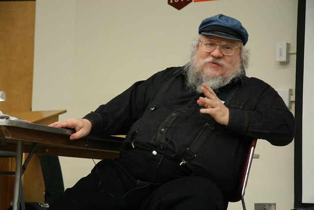 George R.R. Martin at the Technicon 25 panel on character abuse
